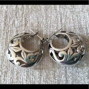 Sterling silver Mexican hoop earrings